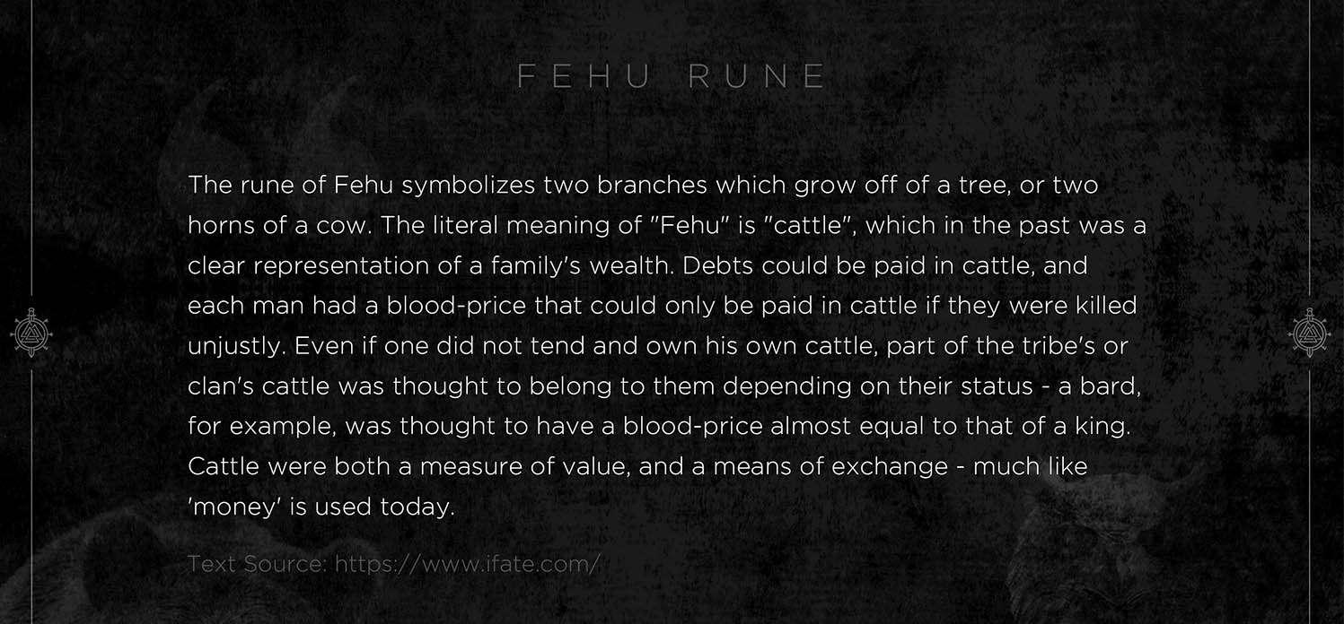 fehu rune, fehu, mythology, runes, norse runes, rune, viking, pagans, alex borisson, runes art, runes cards, cards, norse, valhalla, odin