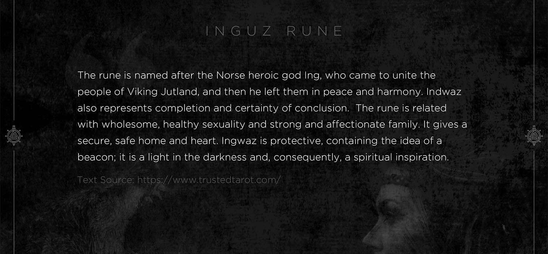 inguz rune, ingus, mythology, runes, norse runes, rune, viking, pagans, alex borisson, runes art, runes cards, cards, norse, valhalla, odin