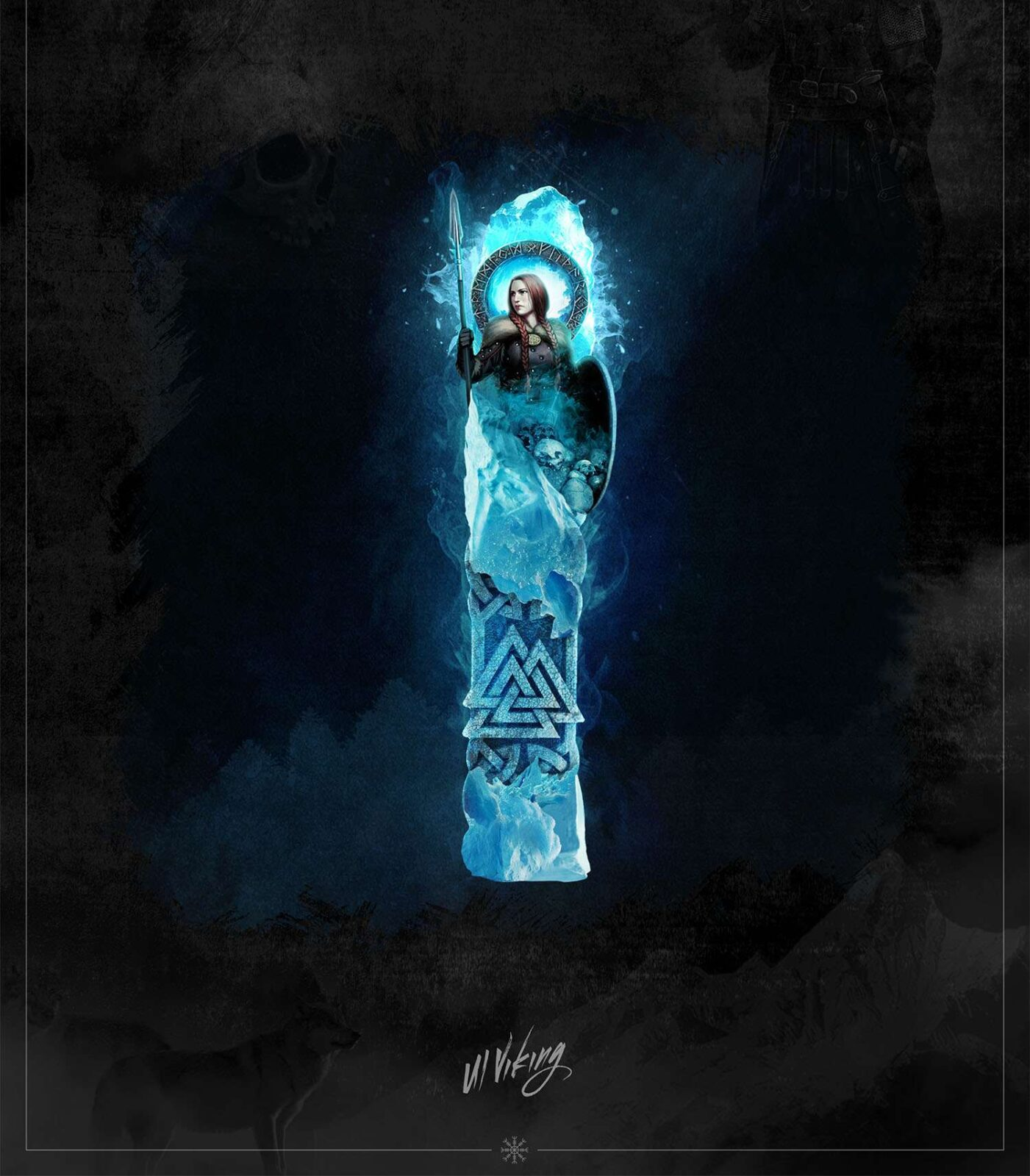 isaz rune, isaz, mythology, runes, norse runes, rune, viking, pagans, alex borisson, runes art, runes cards, cards, norse, valhalla, odin