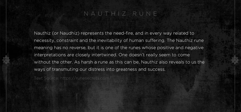 Nauthiz Rune